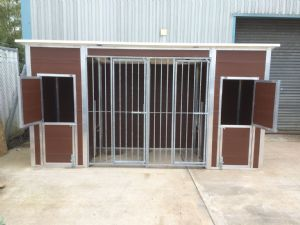 Double Plastic Kennel and Run